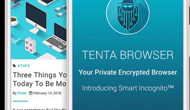 tenta mobile browser on screen