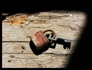 old fashioned lock and key