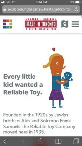 cartoon graphic shows young girl with plastic toy in her hands