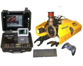 underwater robot kit includes suitcase with remote control electronics
