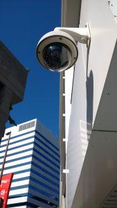 surveillance camera in public space