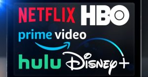 logos of major streaming media services