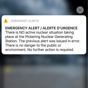 emergecny alert text