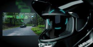 stylish modern motorcycle helmet