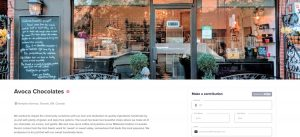 webpage shows speciaty store front