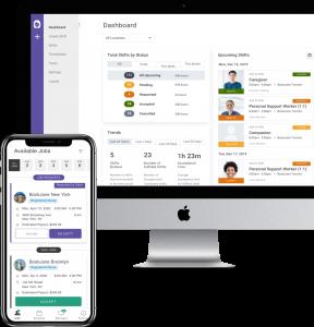 bookjane app on computer and smartphone
