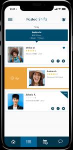 Hyr app on smartphone screen