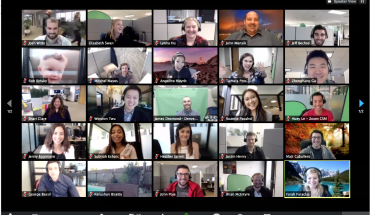 screen grab shows grid of video conferenne particpant faces