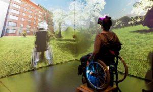 main in wheelchair regards virtual environment
