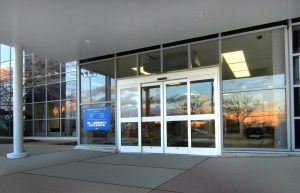 large, wide entranceway to retail store