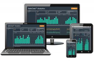 computer screen and smartphones show data dashboard display