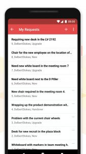 user interface on smartphone