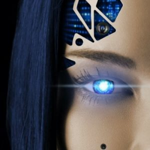 humanoid robot with female face
