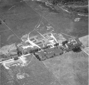 aierial photo of camp buildings and grounds