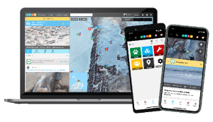 ice hazard app on laptop and smartphone screens