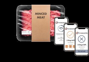 meat package, smart label, smartphones