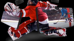 hockey player, smartphoen screens
