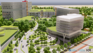 artist rendering of new hospital facilities
