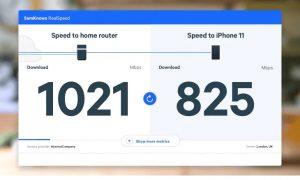 graphic shows data download speeds