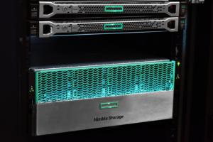 HP nimble systems server rack