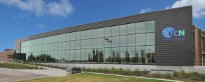 large glass fronted building