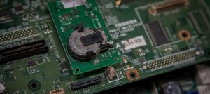 close up of electronic products