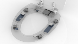 toilet seat with electronics embedded inside