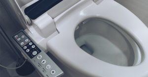 toilet with electronics alongside